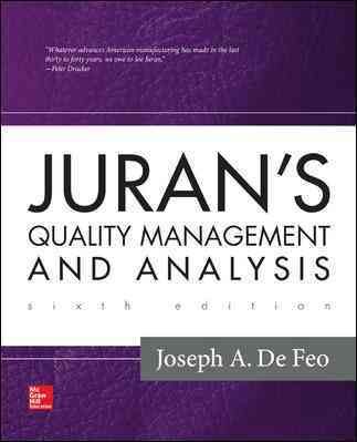 Juran's Quality Management and Analysis By Defeo, Joseph/ Chua, Richard C. H./ Defeo, Joseph A.